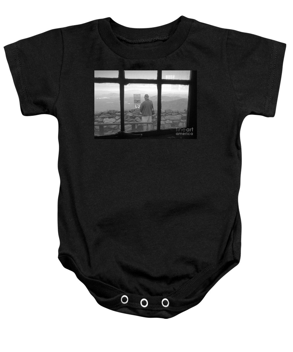 Windows Baby Onesie featuring the photograph Window On White Mountain by David Lee Thompson