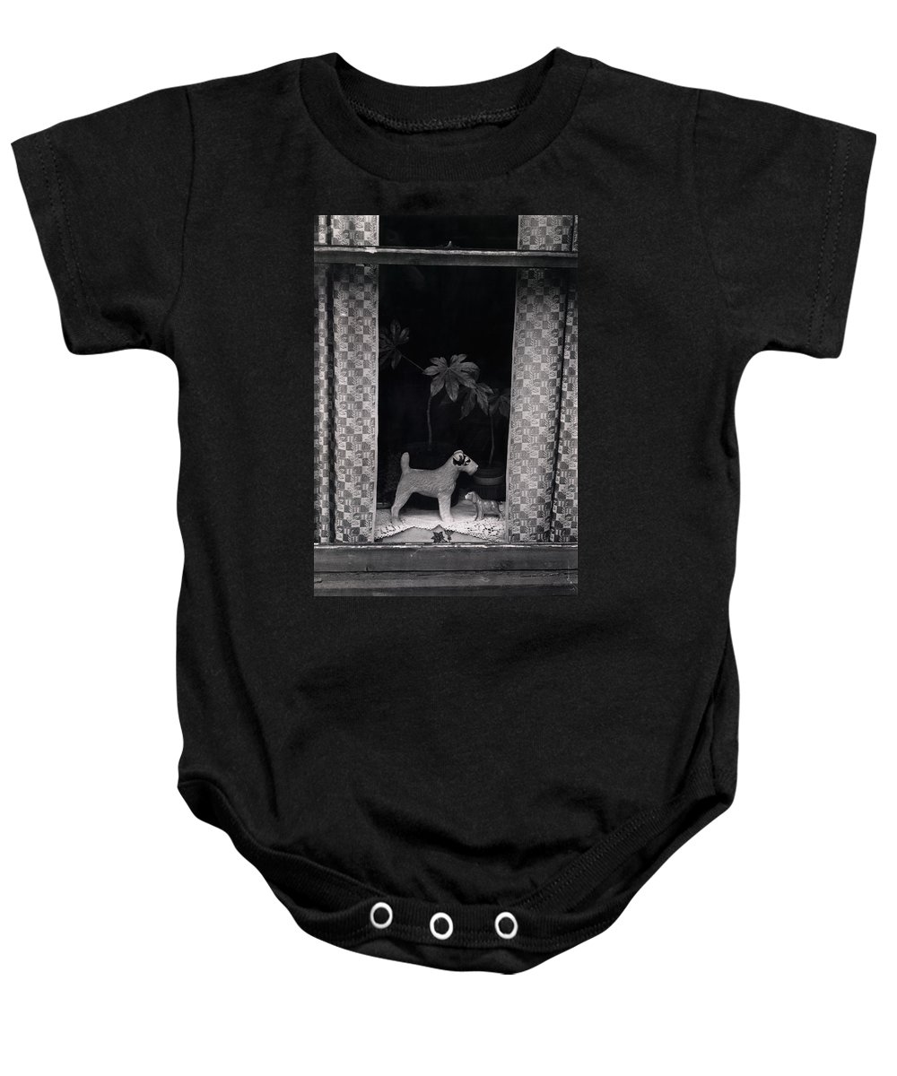 Photograph Baby Onesie featuring the photograph Window Scene by Charles Stuart