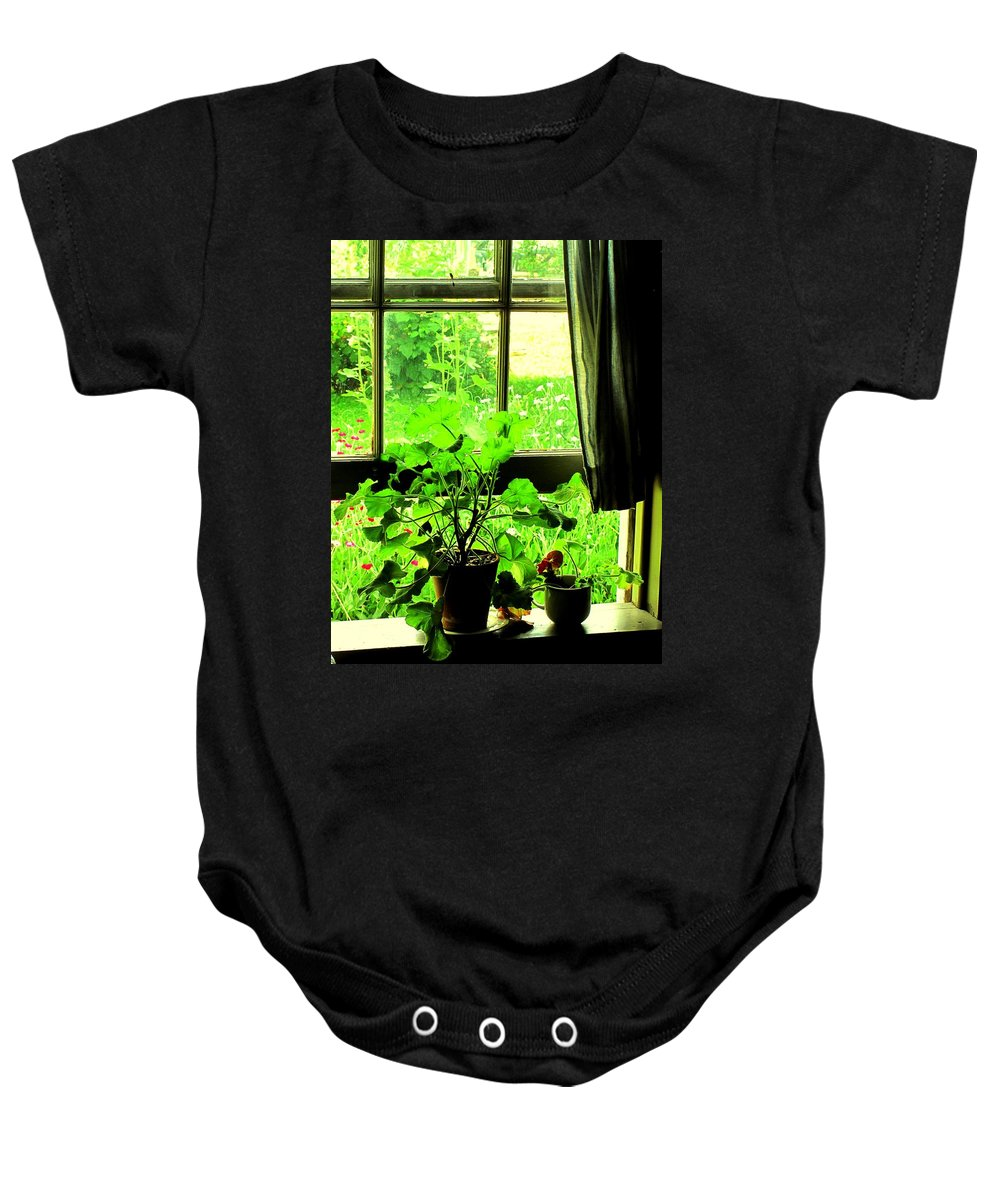 Pioneer Baby Onesie featuring the photograph Window To The World by Ian MacDonald
