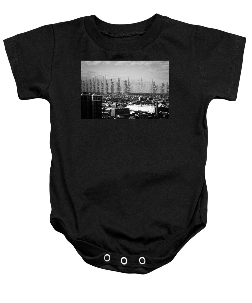 Above Baby Onesie featuring the photograph Windows Of The Baltimore World Trade Center by Louis Daigle
