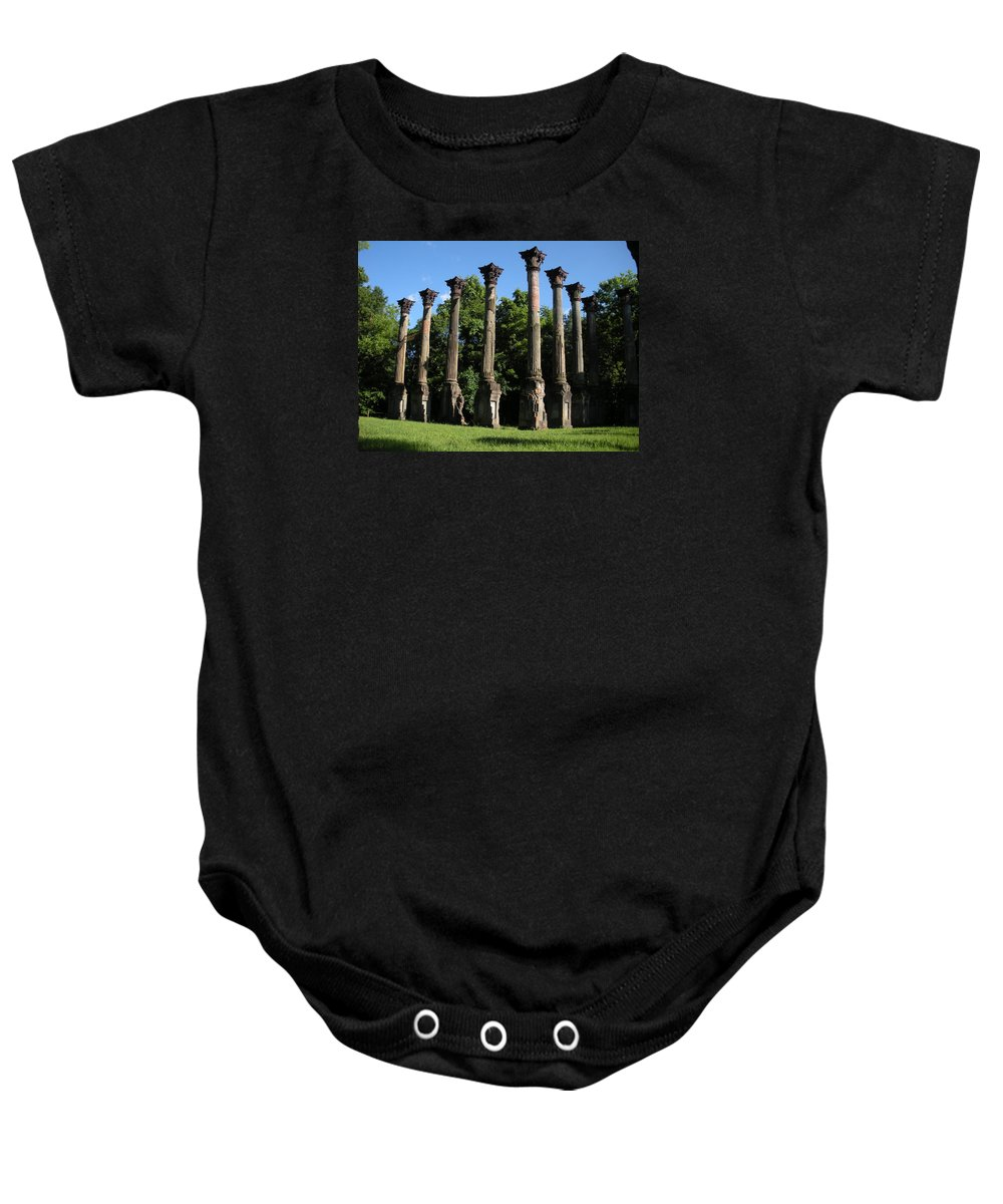 Plantation Baby Onesie featuring the photograph Windsor Mansion 1 by Nelson Strong