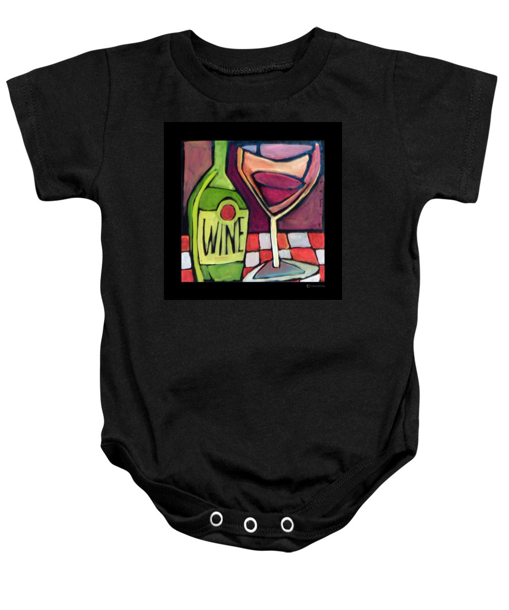 Wine Baby Onesie featuring the painting Wine Squared by Tim Nyberg