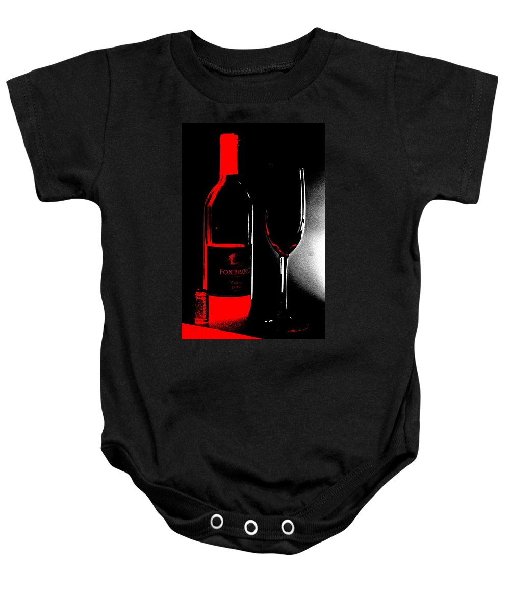 Wine Baby Onesie featuring the photograph Wine Time by Donna Bentley