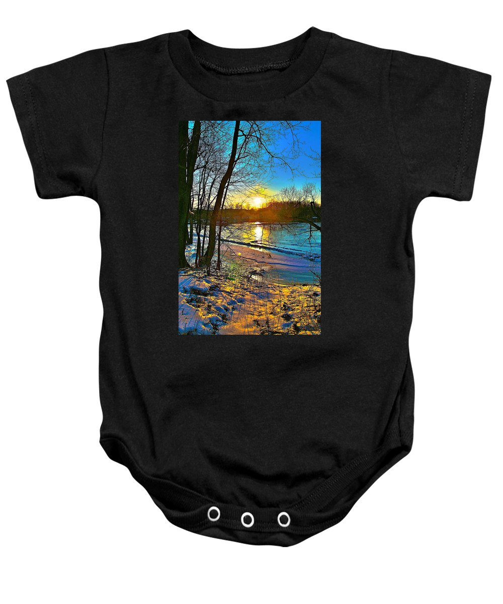 Snow Baby Onesie featuring the photograph Winter Color by Robert Pearson