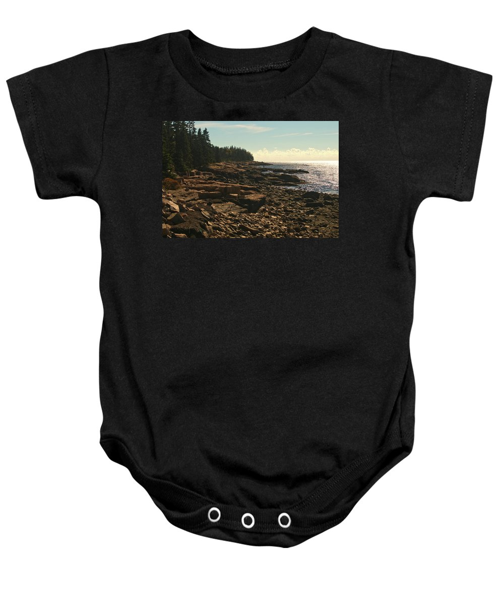 acadia National Park Baby Onesie featuring the photograph Winter Harbor Maine by Paul Mangold