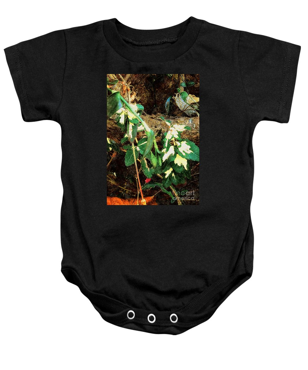 Autumn Baby Onesie featuring the painting Winter Hideout by RC DeWinter