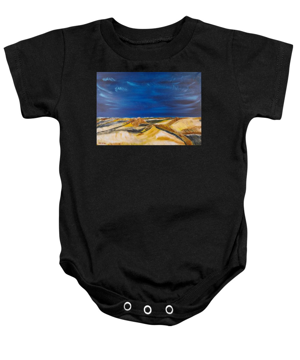 Island Baby Onesie featuring the painting Winter Impression Of Sylt by Valerie Ornstein