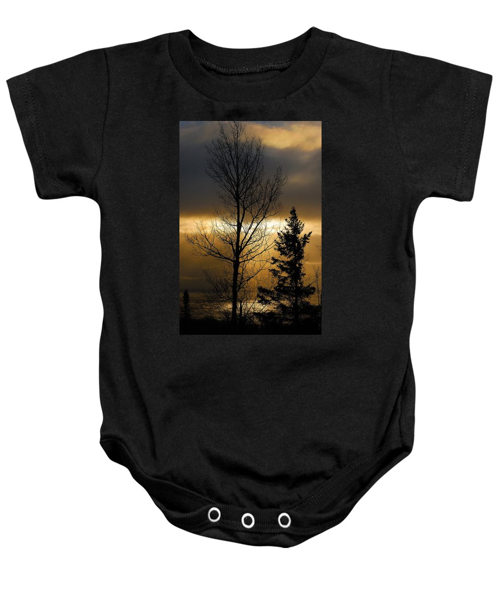 Nature Baby Onesie featuring the photograph Winter Sunrise 2 by Sebastian Musial