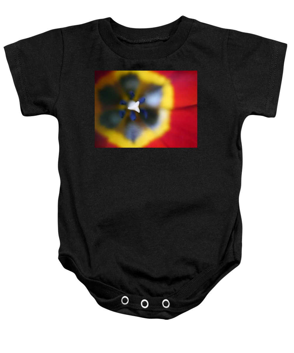 Flowers Baby Onesie featuring the photograph Within The Tulip by Tina Baxter