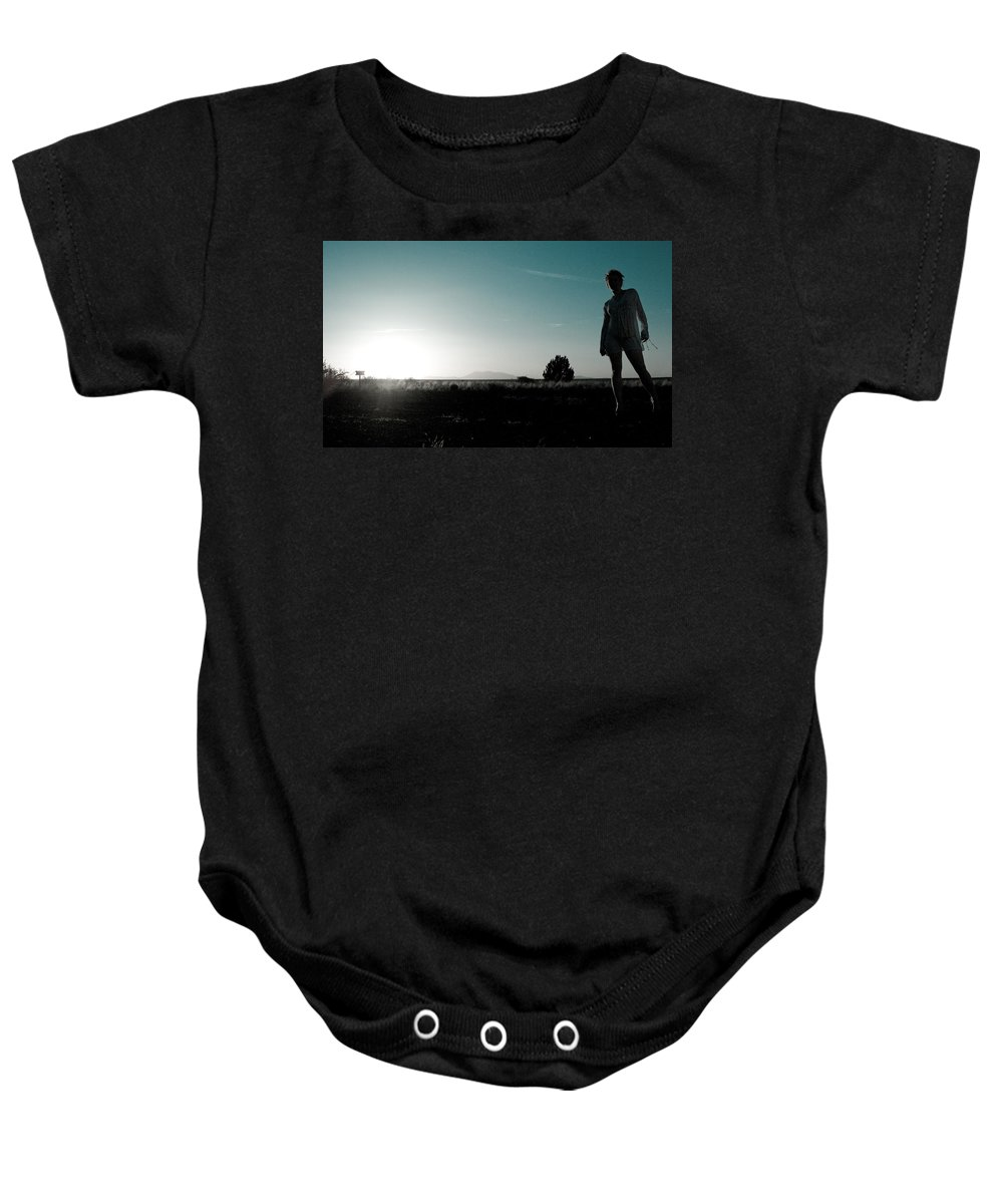 Woman Baby Onesie featuring the photograph Woman Standng by Scott Sawyer