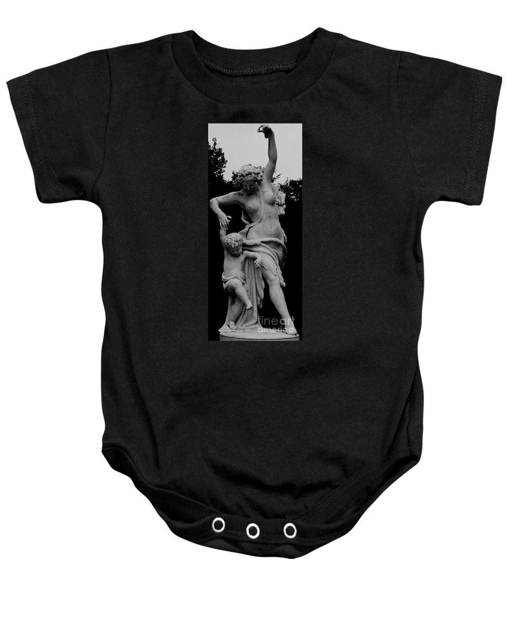 Figurative Baby Onesie featuring the painting Woman Statue by Eric Schiabor