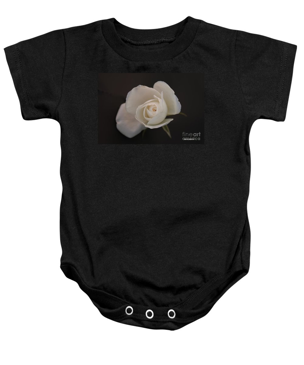 Rose Baby Onesie featuring the photograph Wonder by Shelley Jones
