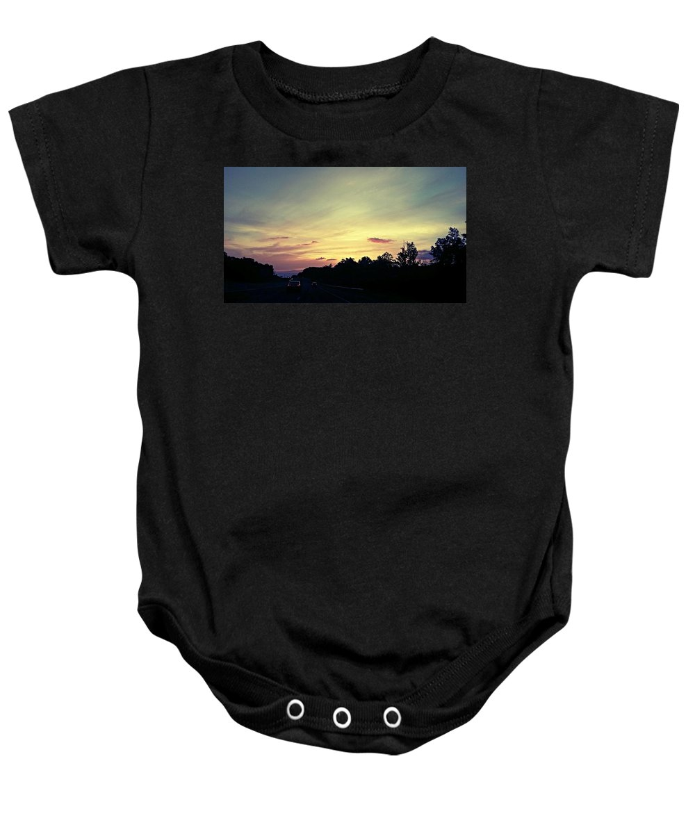 Workday Wonders Baby Onesie featuring the photograph Workday Wonders by Maria Urso