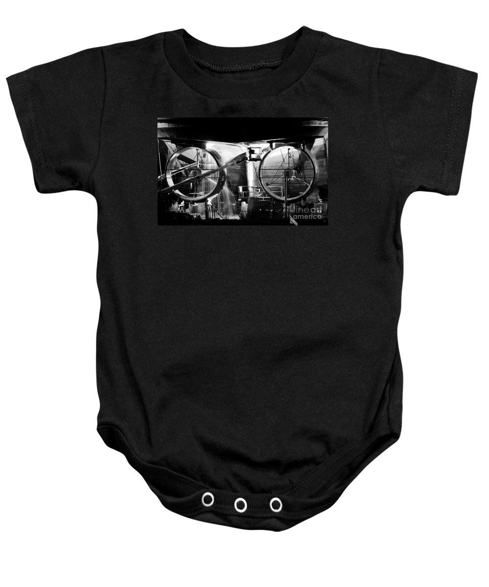 Work Baby Onesie featuring the photograph Working Men by David Lee Thompson