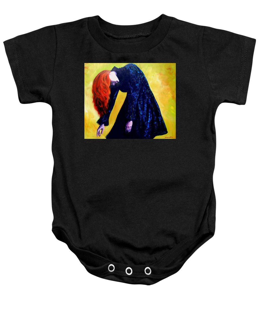 Acrylic Baby Onesie featuring the painting Wound Down by Jason Reinhardt