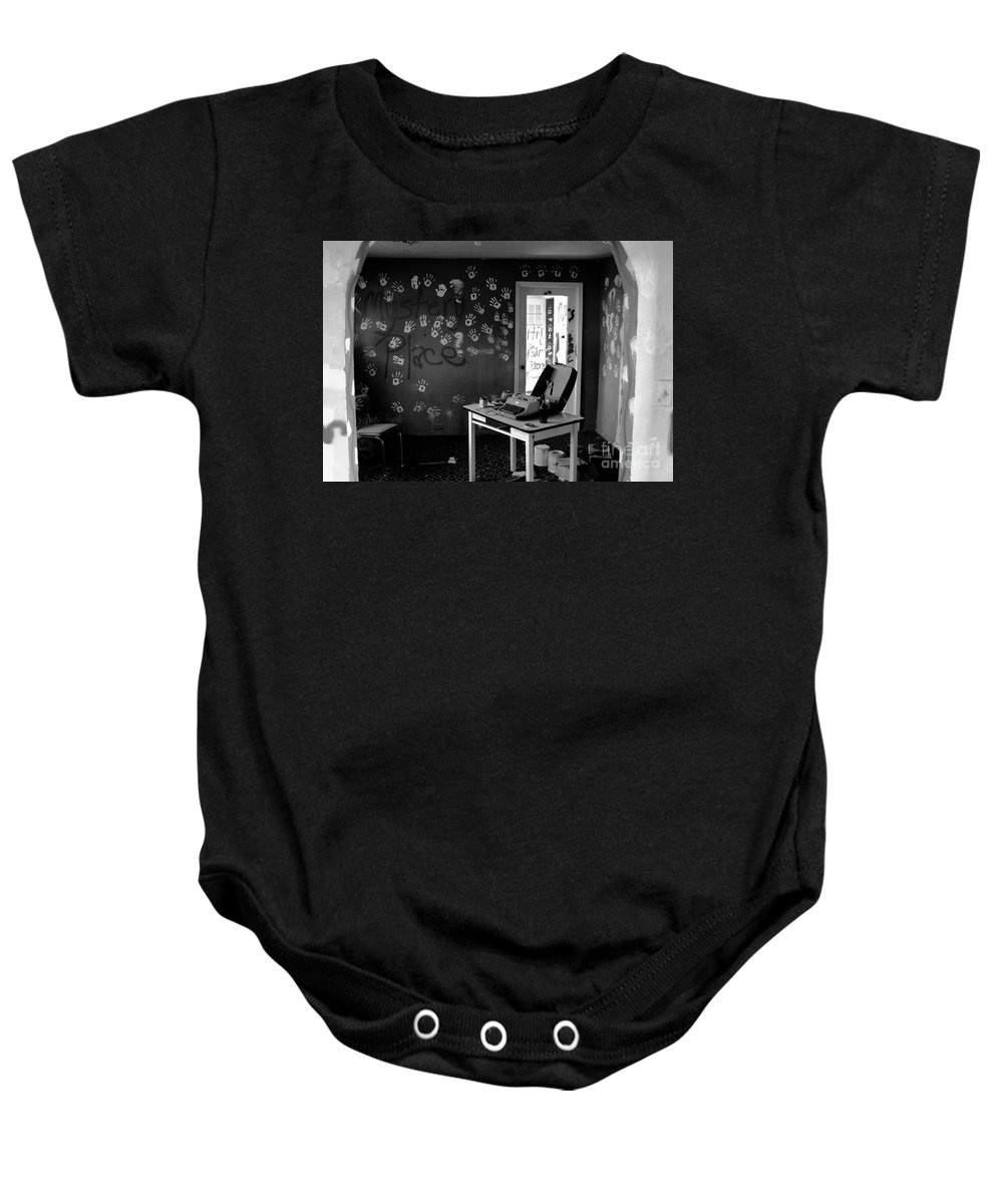 Writing Baby Onesie featuring the photograph Writers Station by David Lee Thompson