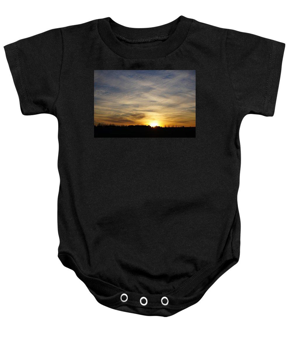 Winter Baby Onesie featuring the photograph Wyoming Sunrise by Susan Brown
