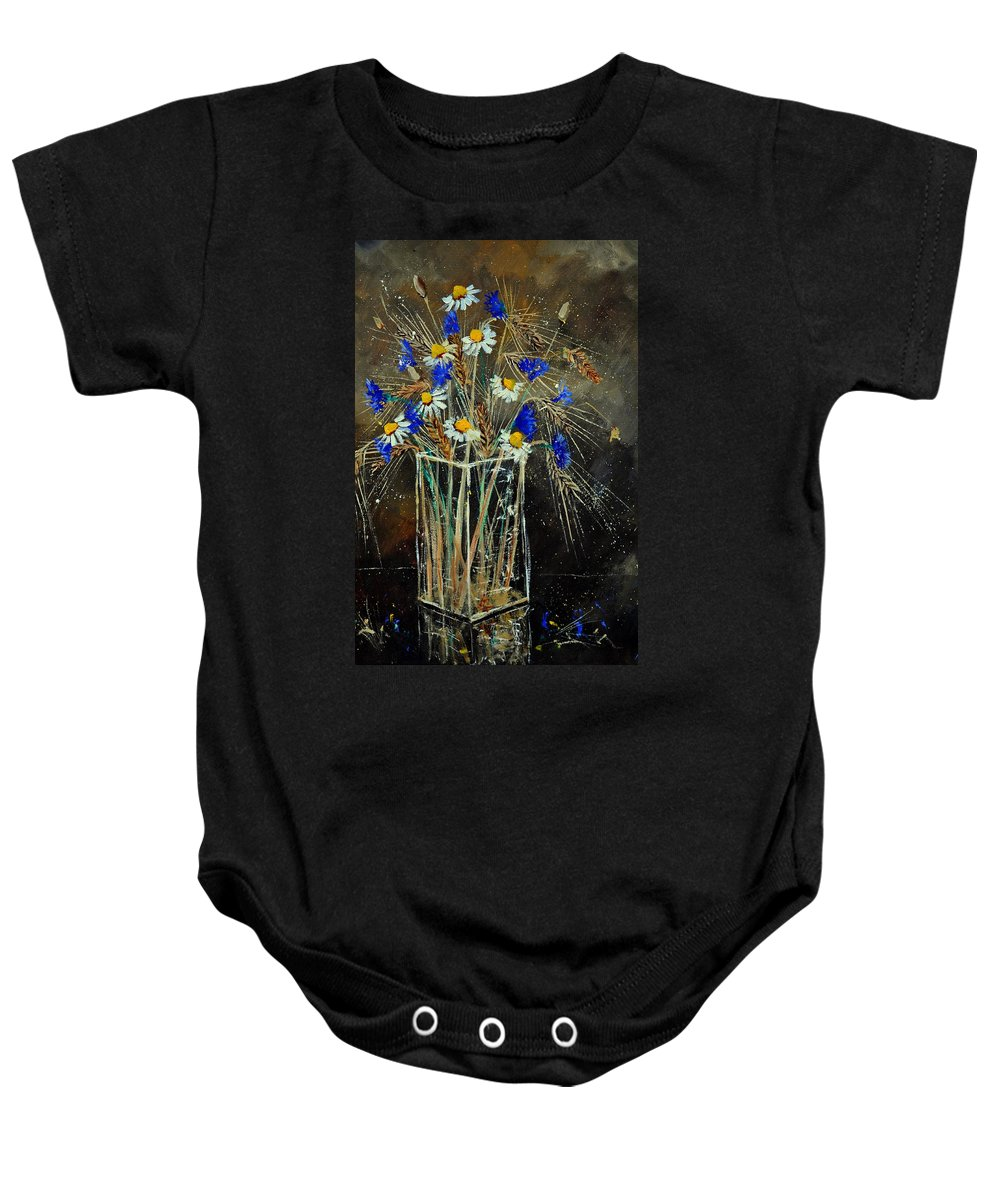 Flowers Baby Onesie featuring the painting Xav's Bunch by Pol Ledent