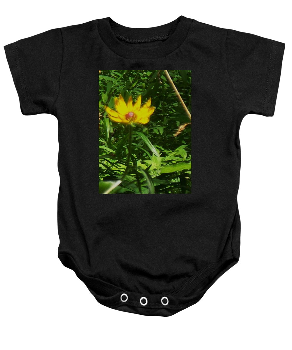 Flower Baby Onesie featuring the photograph Yellow Flower by Eric Schiabor