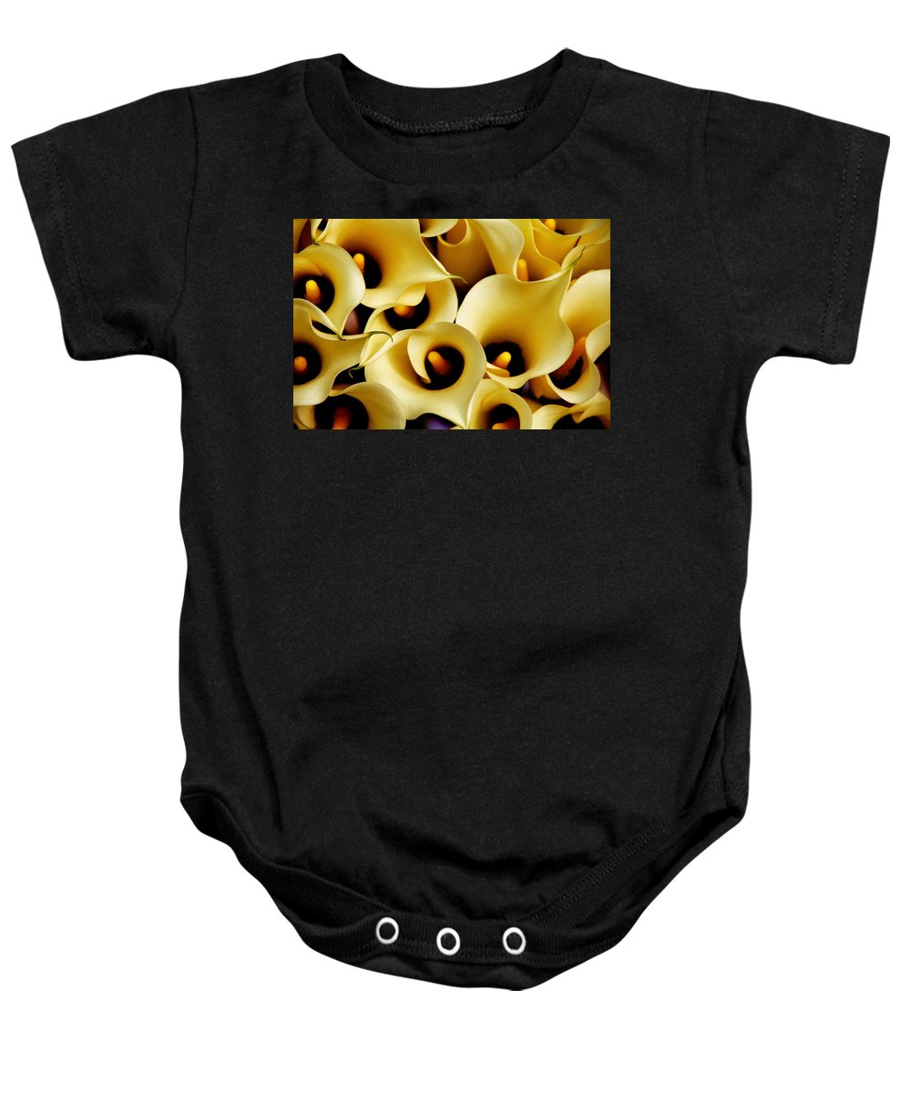 Yellow Baby Onesie featuring the photograph Yellow Flowers by Stephen Poffenberger