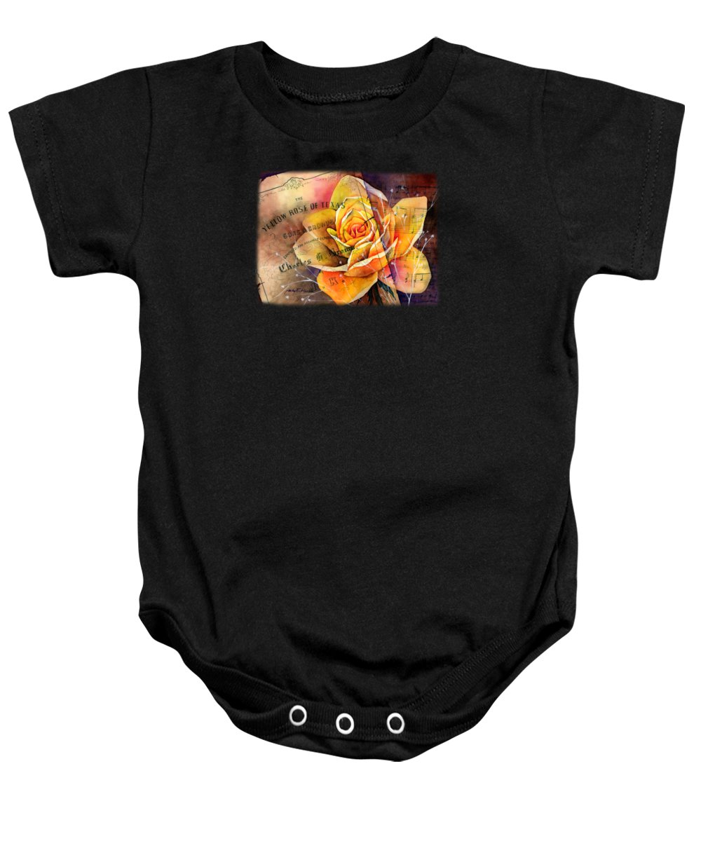 Yellow Rose Baby Onesies
