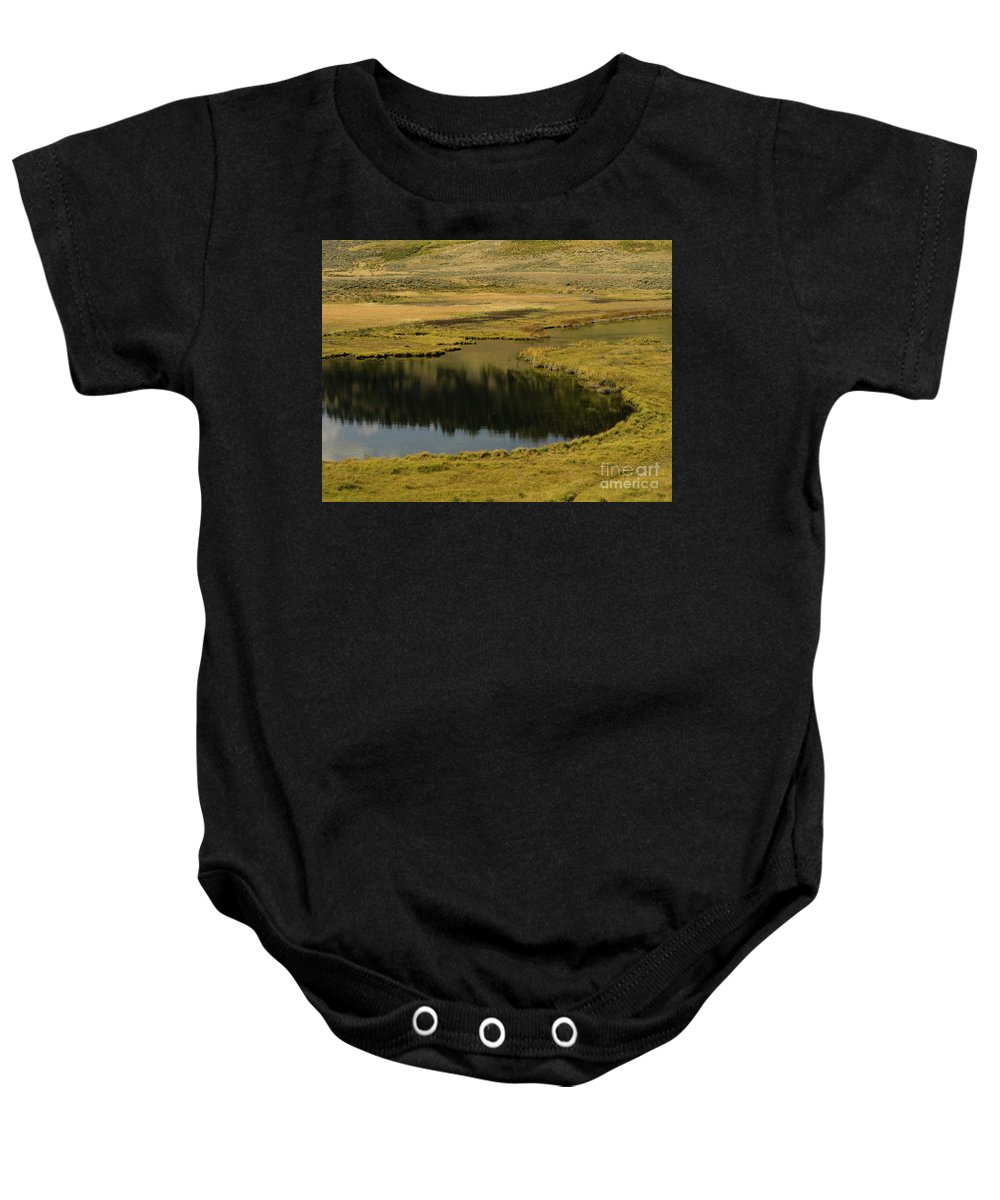 Wyoming Baby Onesie featuring the photograph Yellowstone River Pond by Tracy Knauer