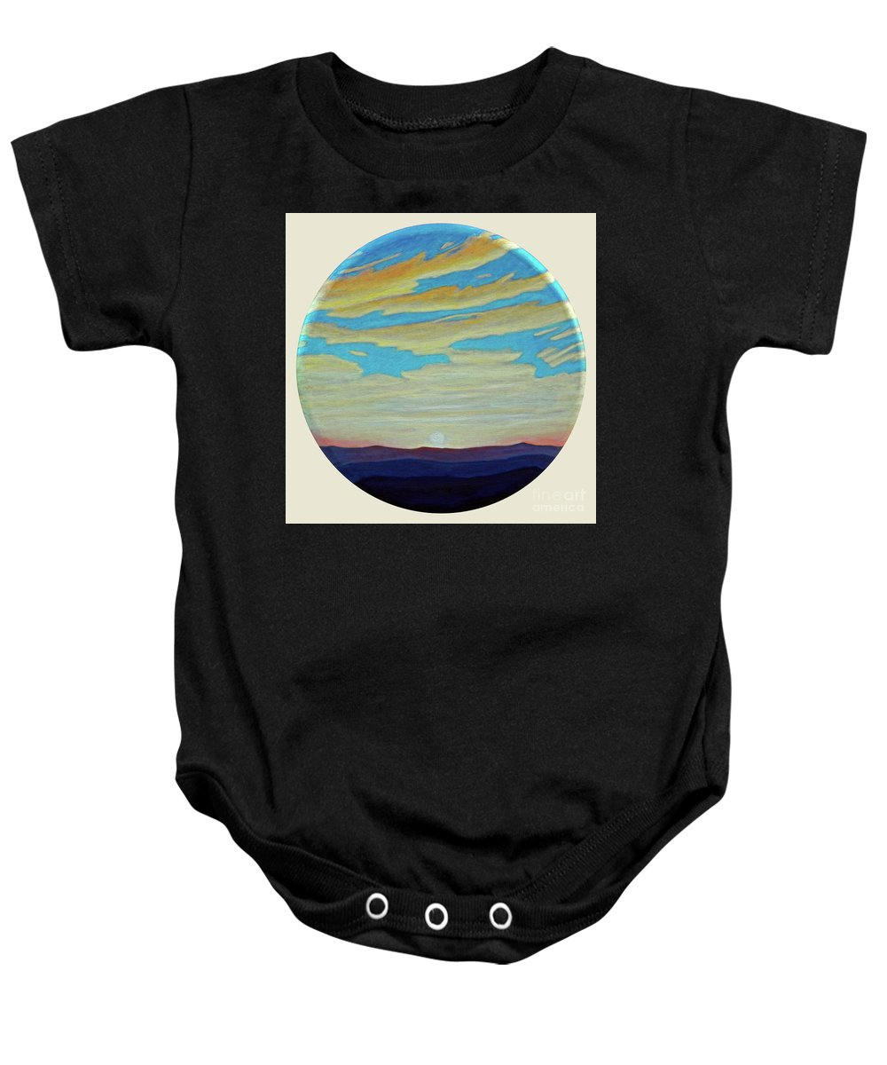 Landscape Baby Onesie featuring the painting Yesterday by Brian Commerford