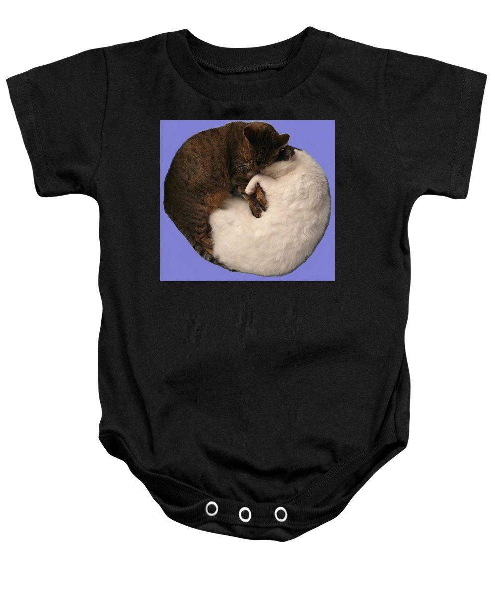Yin Baby Onesie featuring the photograph Yin And Yang by Valerie Ornstein