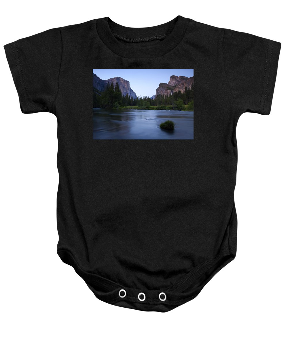 Yosemite Baby Onesie featuring the photograph Yosemite Twilight by Mike Dawson