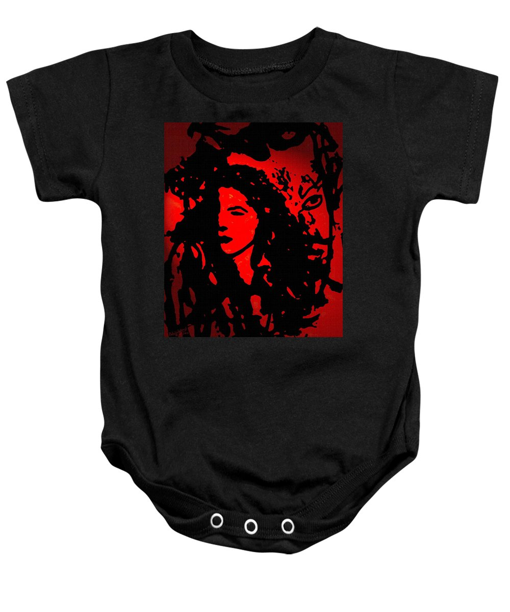 Expressionism Baby Onesie featuring the mixed media You And I by Natalie Holland