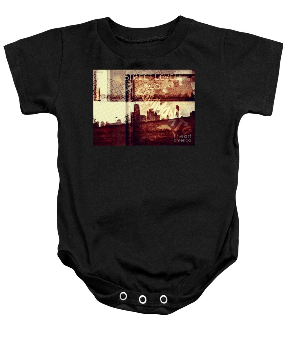 Chicago Baby Onesie featuring the photograph You Held My Hand Softly Through The Humid Summer Streets by Dana DiPasquale