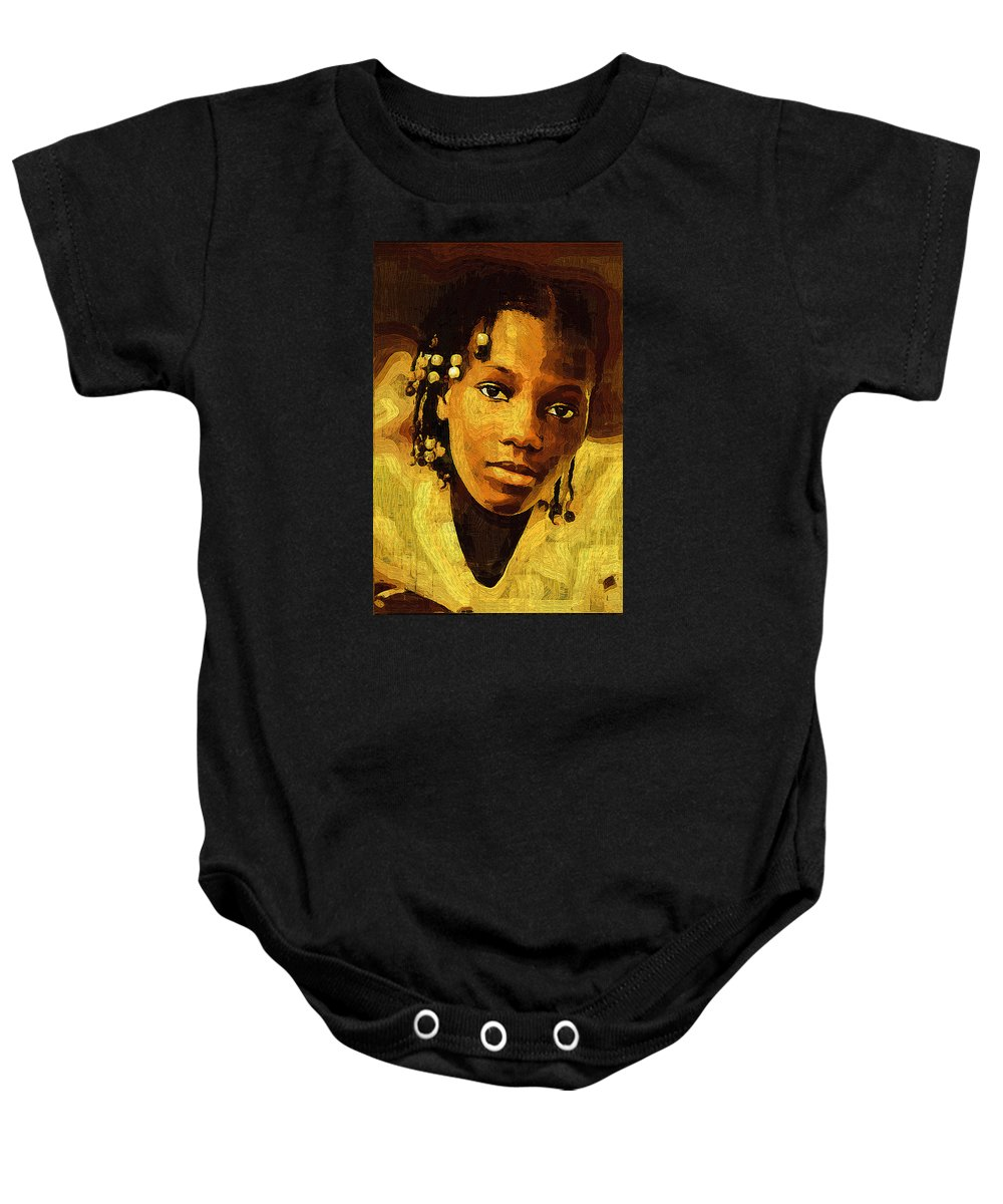 Female Baby Onesie featuring the photograph Dreadlocks And Beads by Ginger Wakem