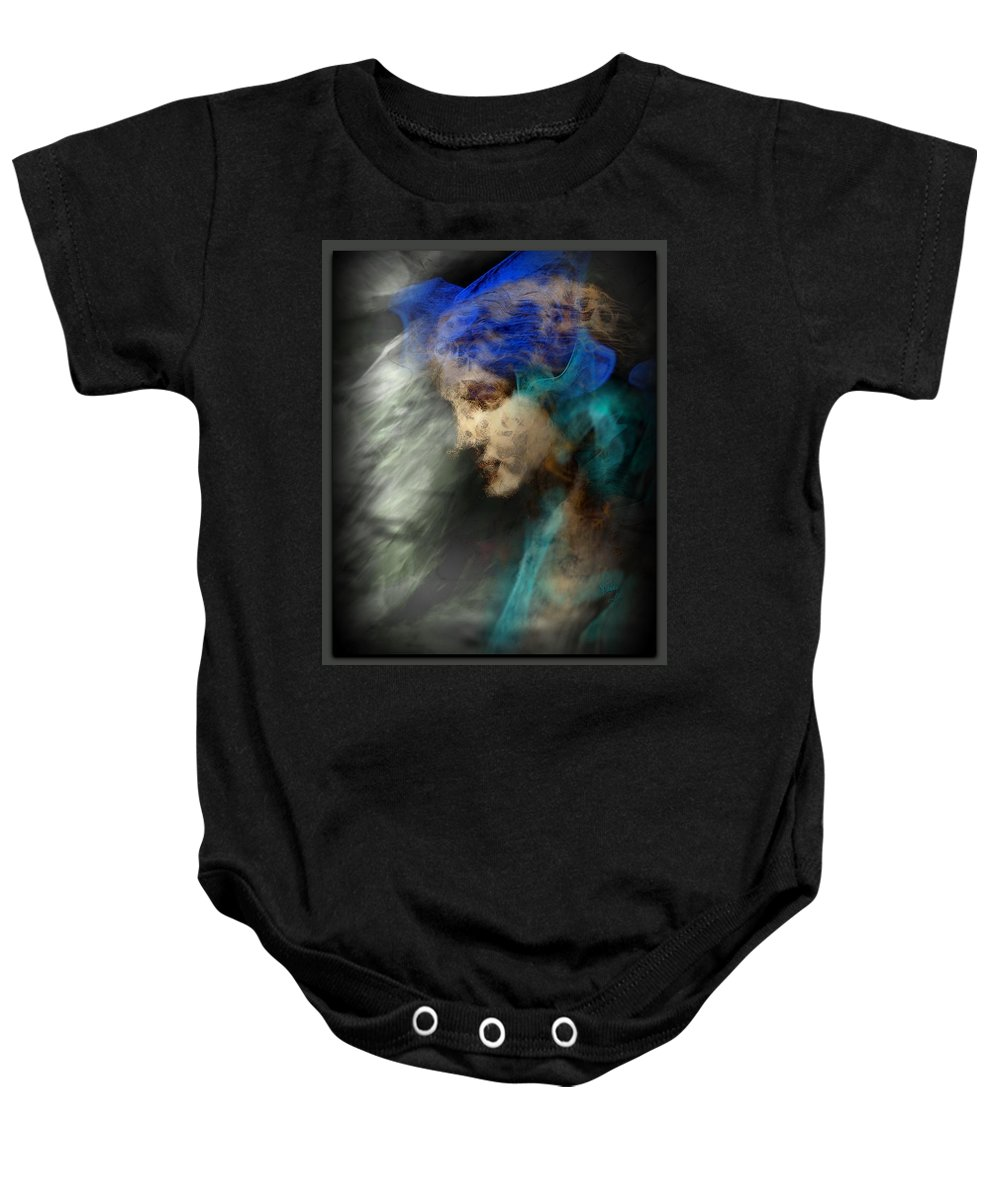 Spirit Baby Onesie featuring the painting Your Angel Passed Nearby by Freddy Kirsheh