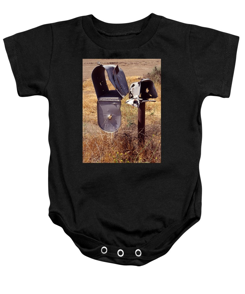 Mailbox Baby Onesie featuring the photograph You've Got Mail. by Spirit Vision Photography