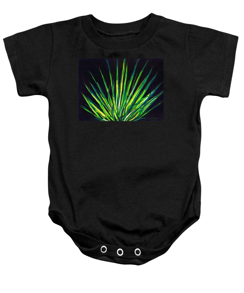 Yucca Baby Onesie featuring the drawing Yucca by Melvin Moon