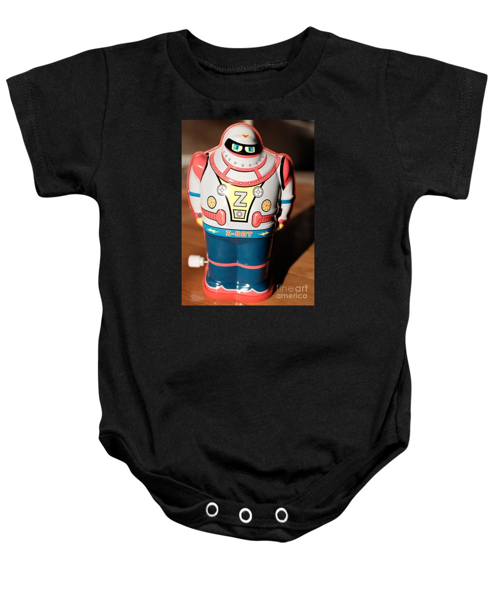 Robot Baby Onesie featuring the photograph Z-bot Robot Toy by Edward Fielding