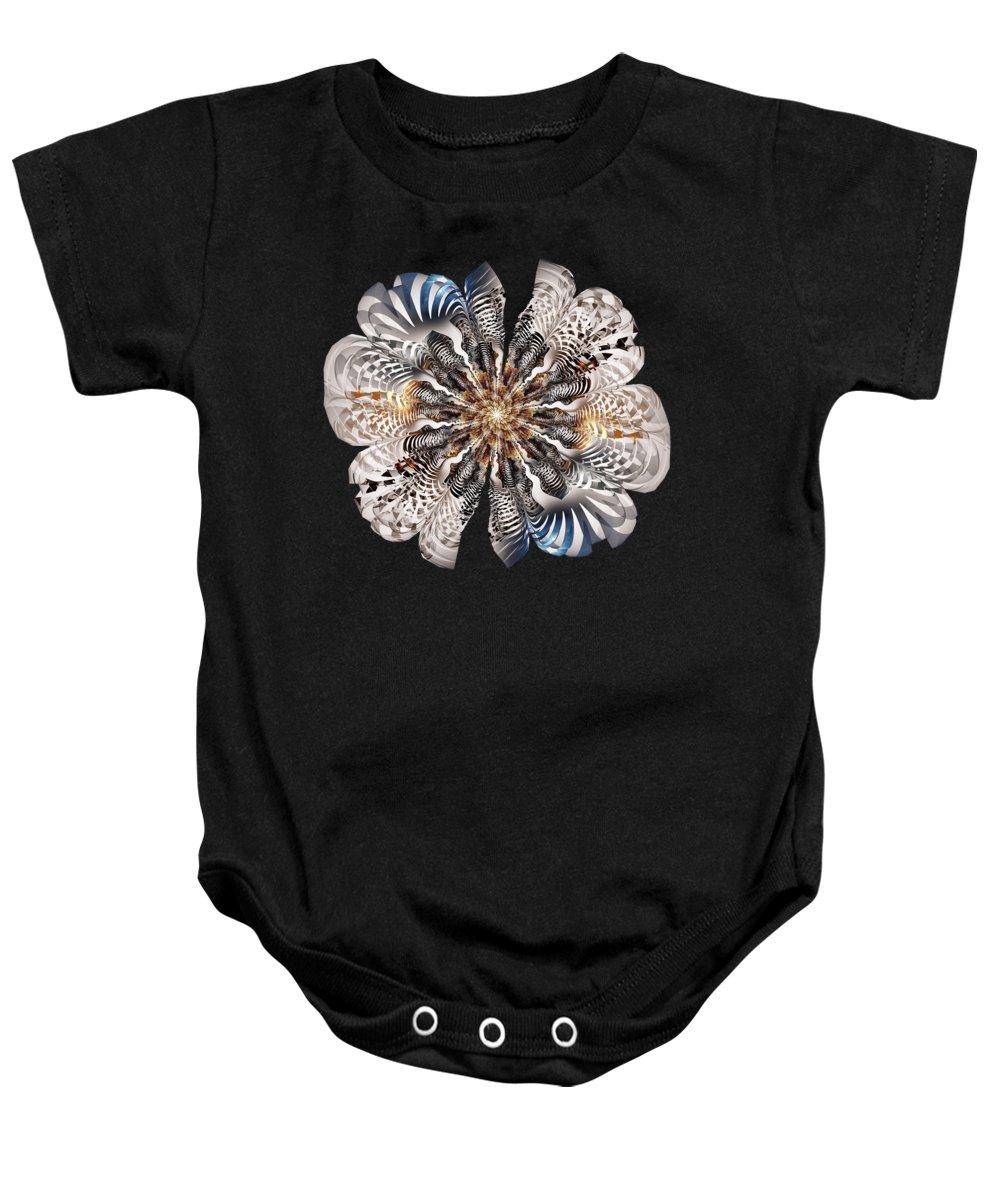 Flower Baby Onesie featuring the digital art Zebra Flower by Anastasiya Malakhova