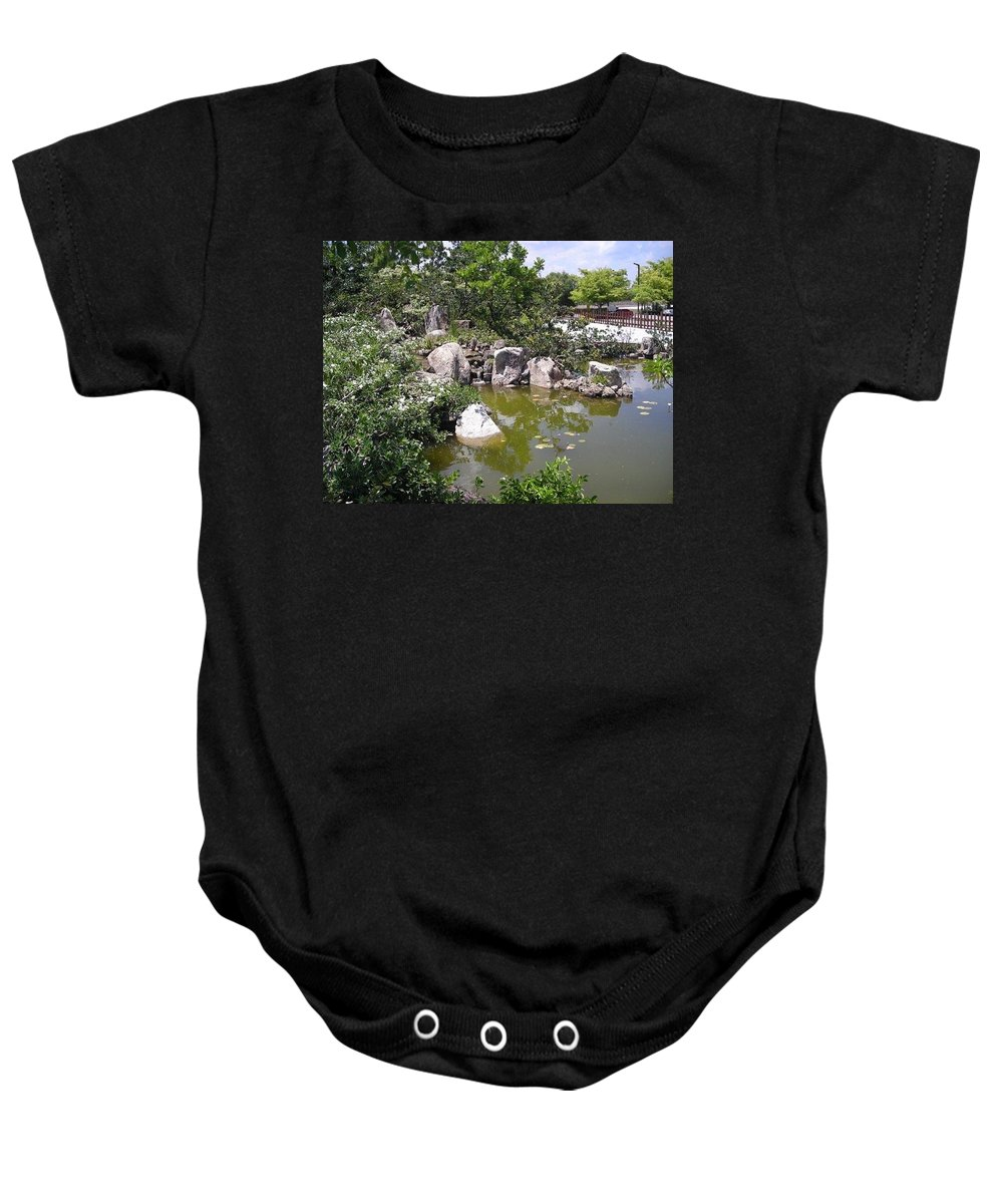 Tree Baby Onesie featuring the photograph Zen Garden 3 by Stacey Marshall