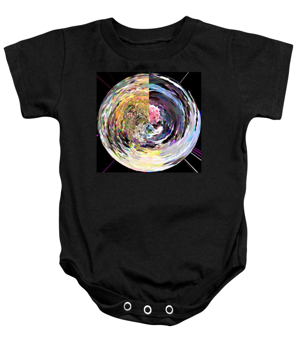 Digital Baby Onesie featuring the painting Zing by Anil Nene