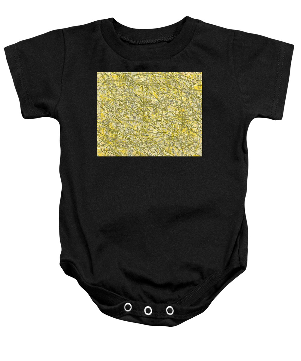 Abstract Art Baby Onesie featuring the digital art 1965 by Ely Arsha