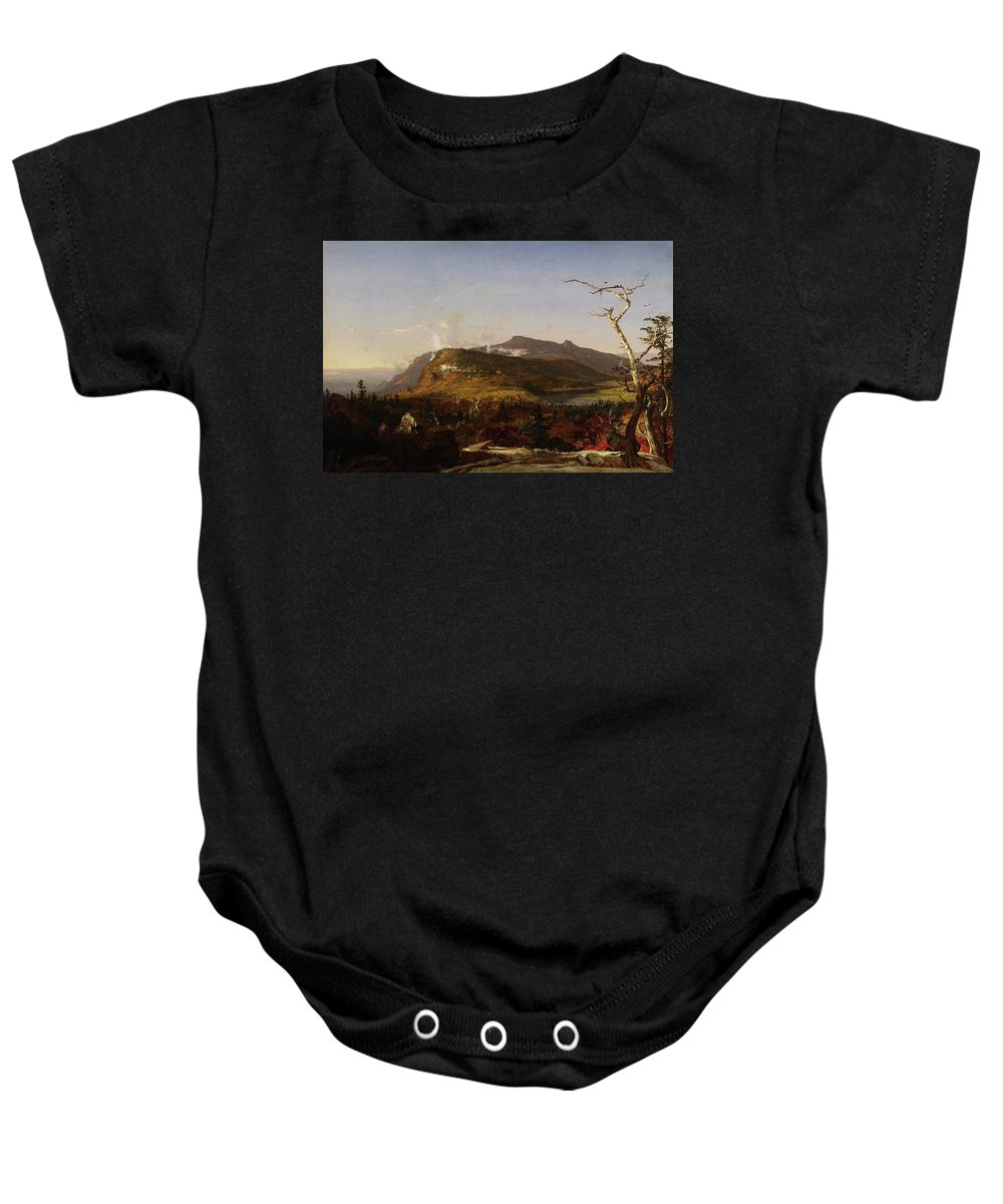 Catskill Mountain House Baby Onesie featuring the painting Catskill Mountain House by Jasper Francis Cropsey