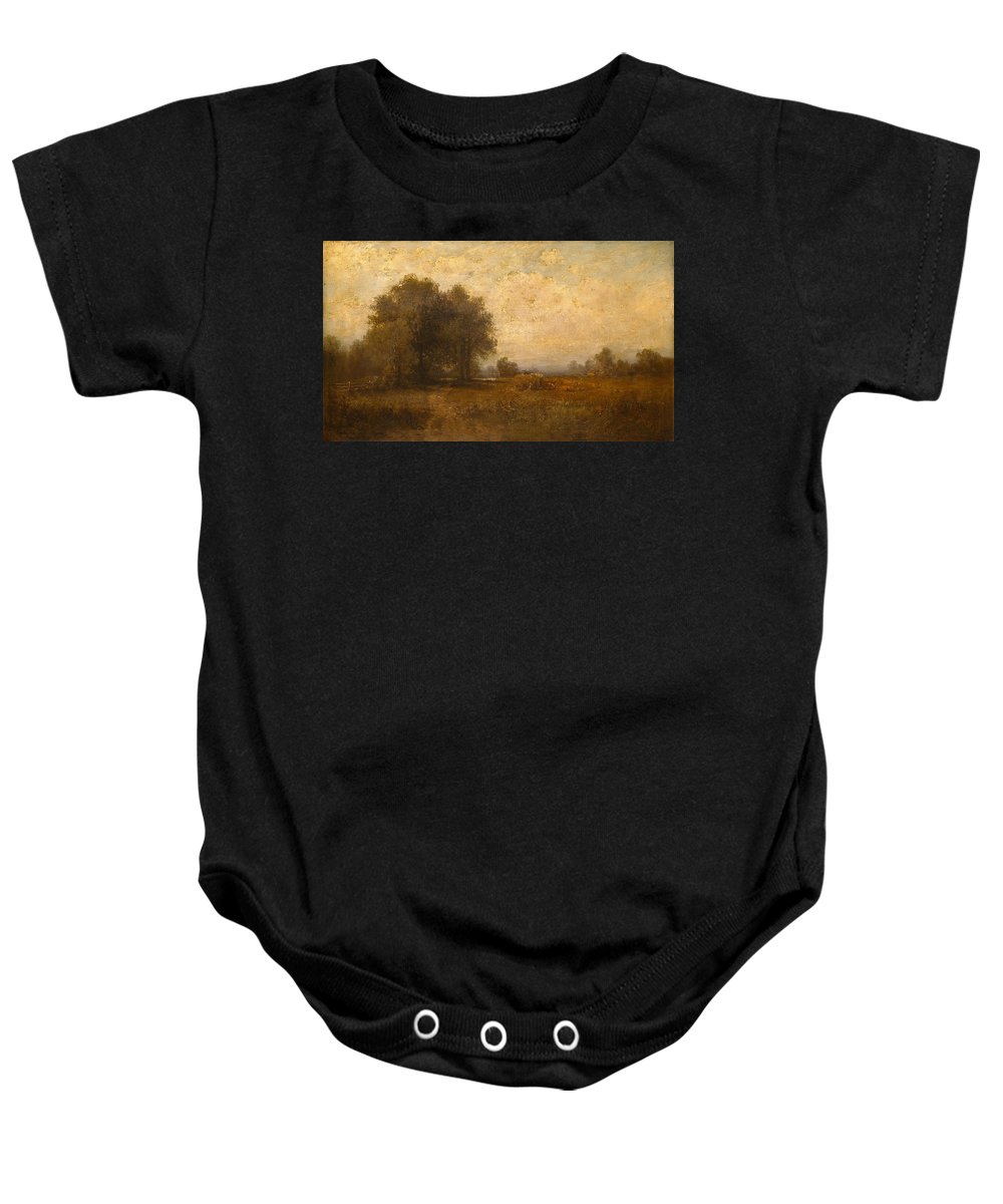 Alexander Helwig Wyant Baby Onesie featuring the painting Landscape by Alexander Helwig Wyant