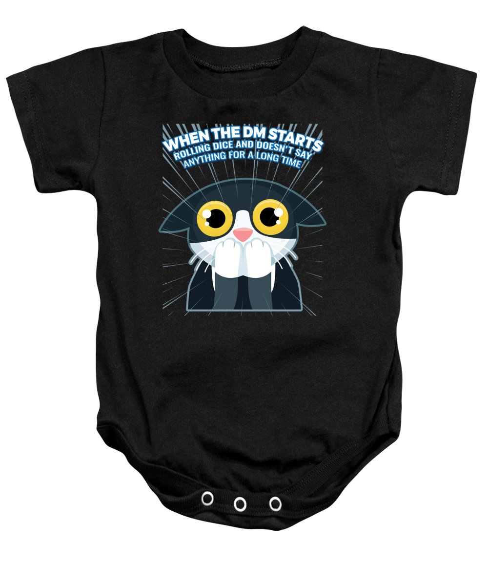 5a6018f5b1 Fantasy Baby Onesie featuring the digital art Funny Dnd Gift For Dungeon  Masters Dm And Roleplay