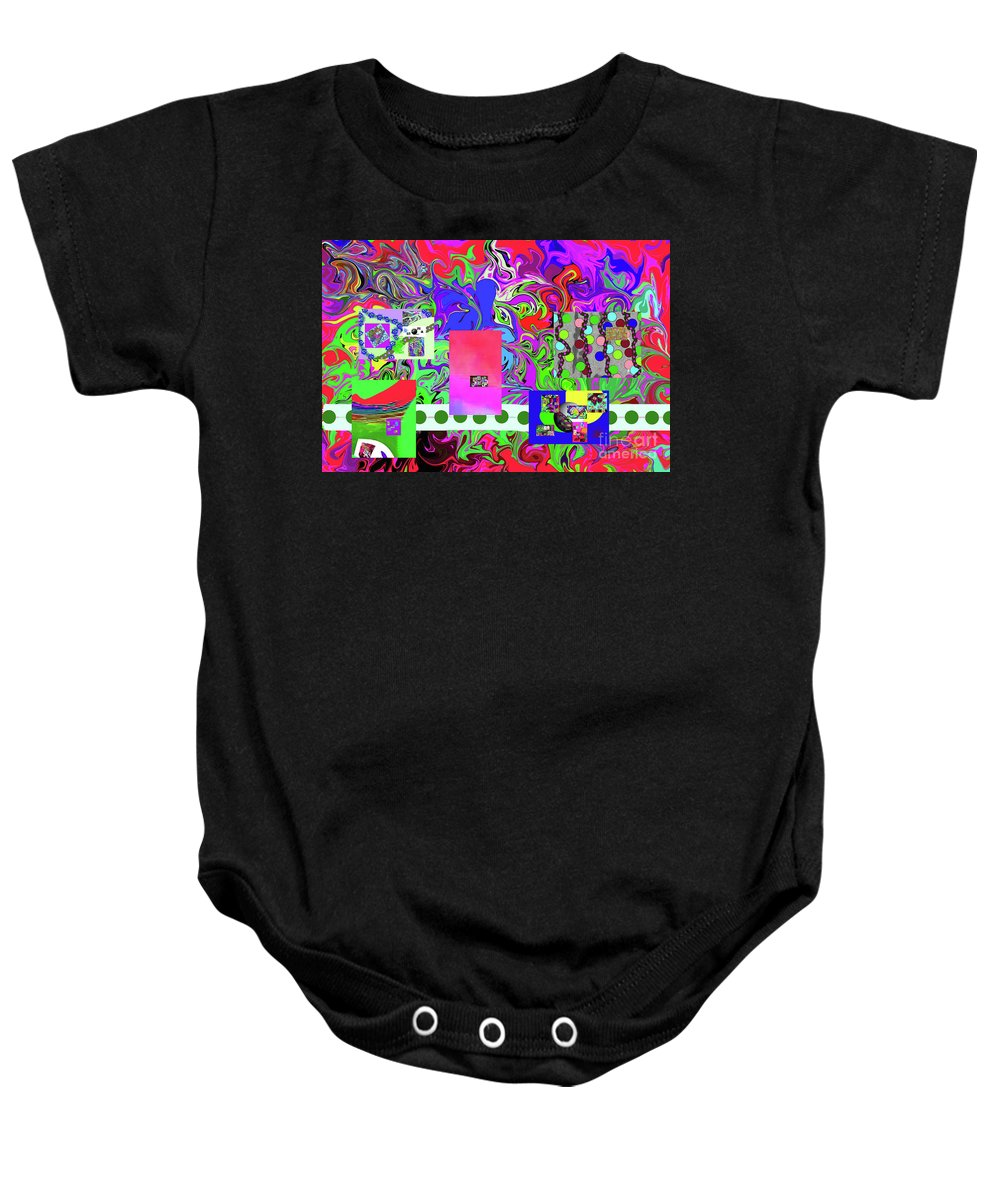 Walter Paul Bebirian Baby Onesie featuring the digital art 9-10-2015ba by Walter Paul Bebirian