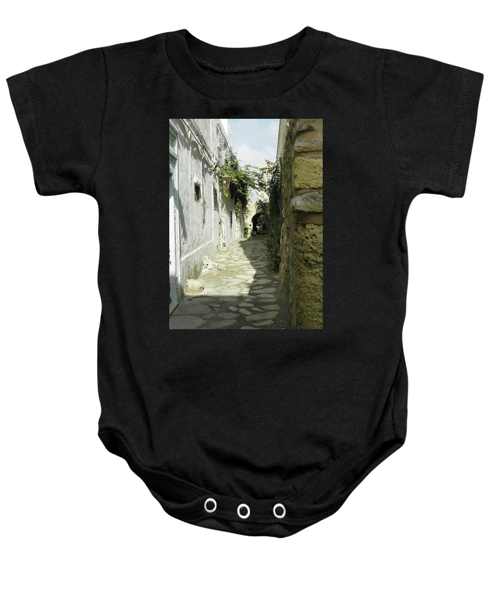 Alley Baby Onesie featuring the photograph alley in Hammamet, Tunisia by Victor Lord Denovan
