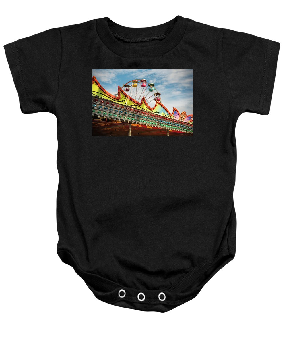 Vacation Baby Onesie featuring the photograph Amusement Park Fun by Anthony Doudt