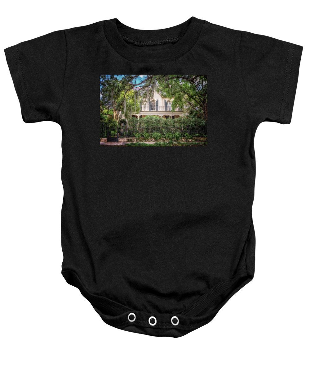 Garden District Baby Onesie featuring the photograph Briggs - Staub House by Susan Rissi Tregoning