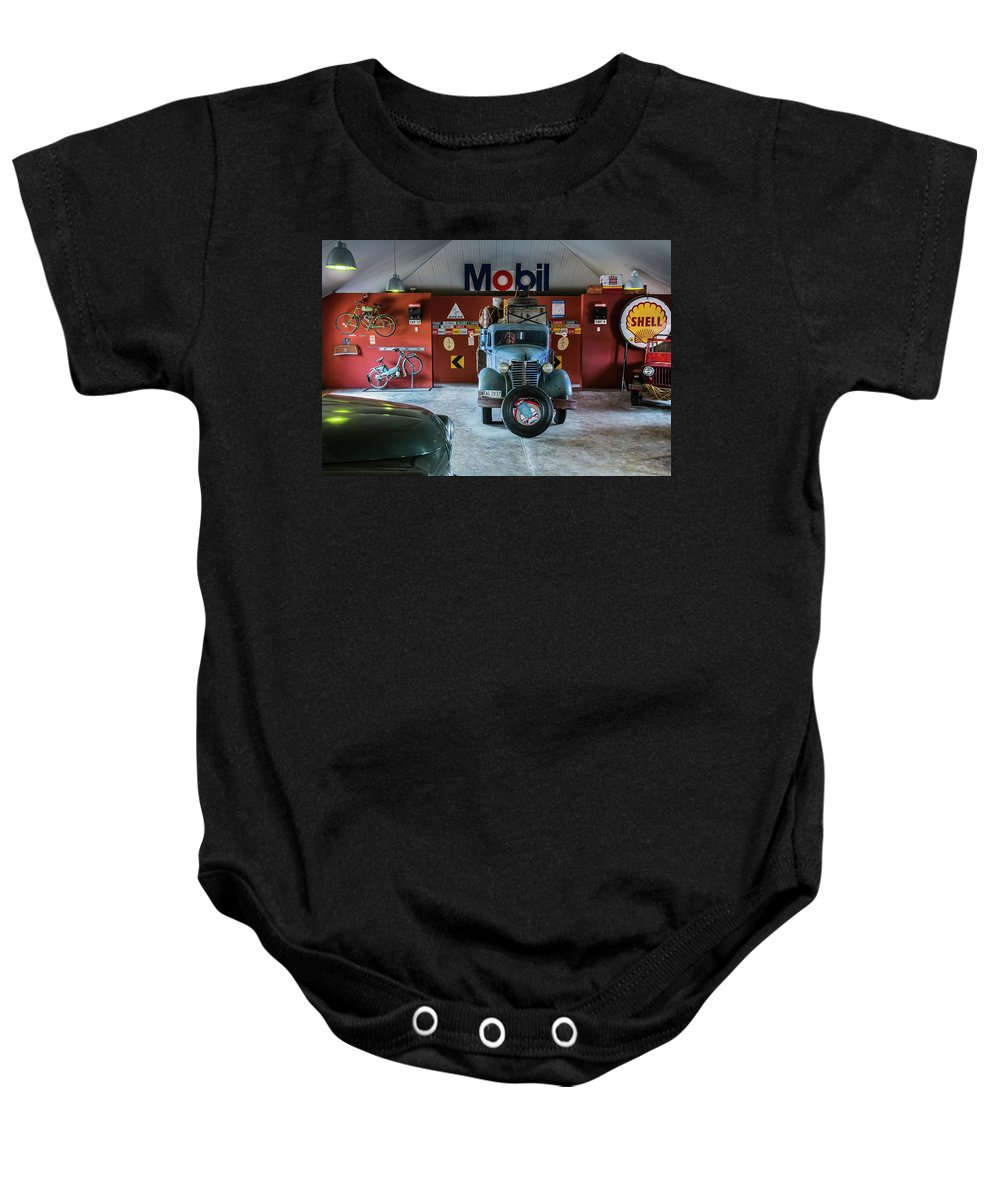 Old Baby Onesie featuring the photograph Canyon Roadhouse 2 by Claudio Maioli