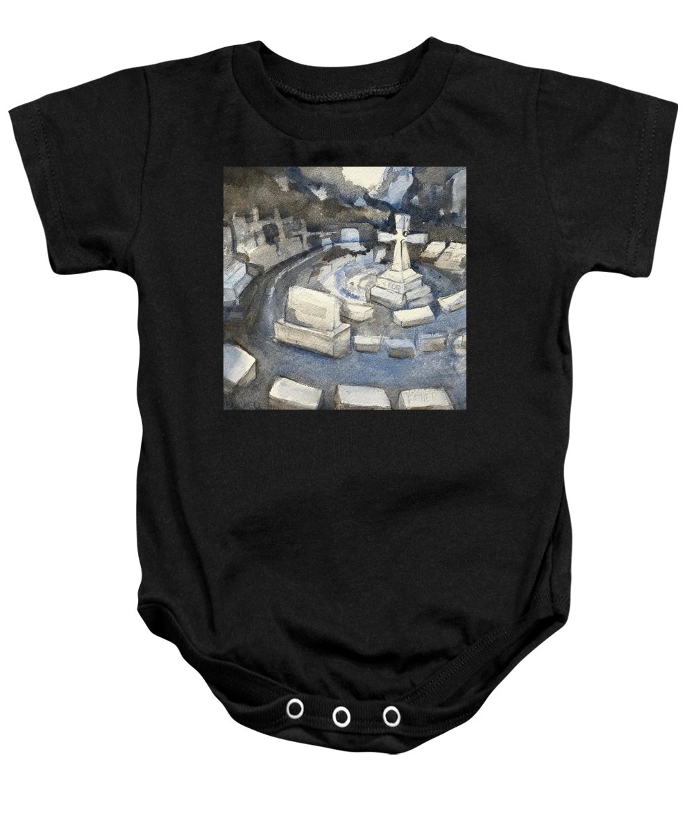 Respect Baby Onesie featuring the painting Circle Of Respect by Lynne Bolwell