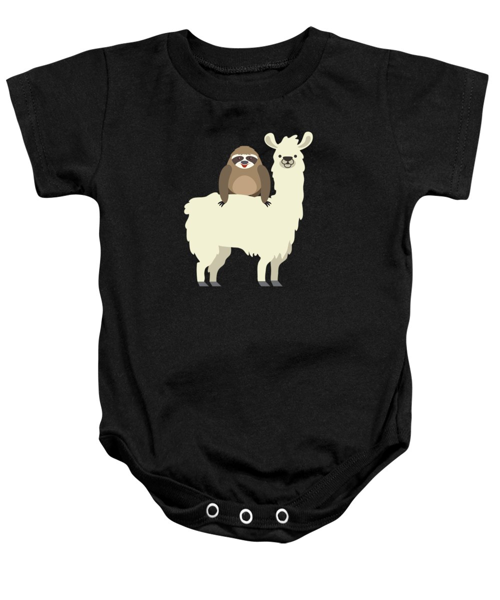99162d0b4 Cute Funny Sloth Riding Llama Onesie for Sale by The Perfect Presents